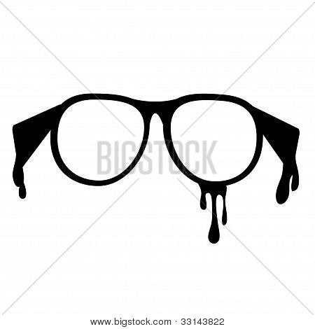 Nerd glasses on isolated white background