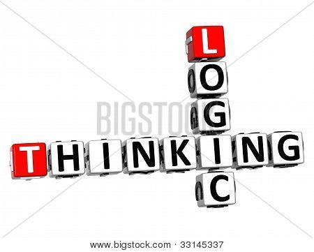 3D Logic Thinking Crossword