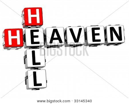 3D Heaven Hell Crossword