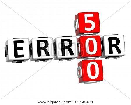 3D Error 500 Crossword