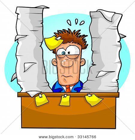 overwhelmed worker
