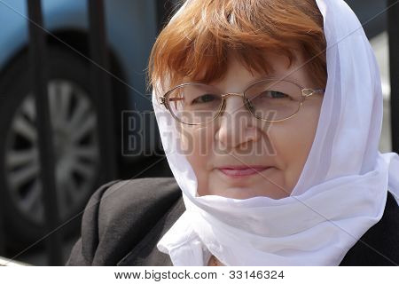 Mature Woman In Kerchief