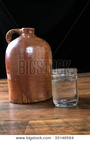 Moonshine In Crock Jug