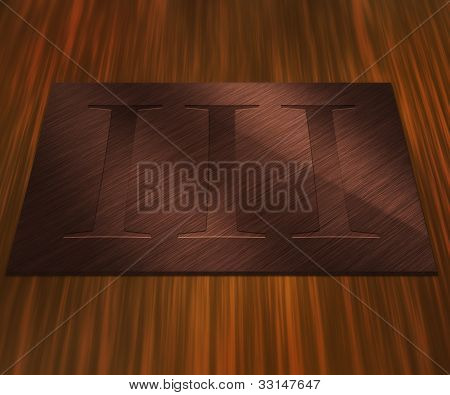 3rd Place Bronze Metal Plate
