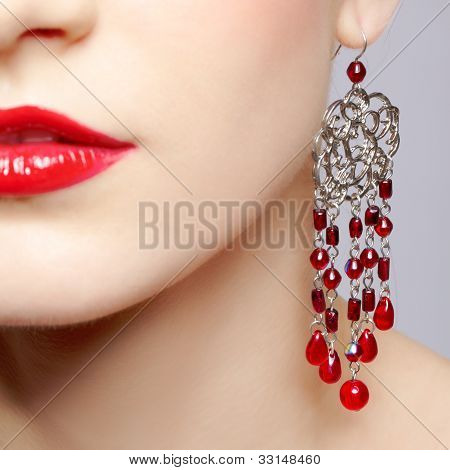 Beautiful Woman In Ear-rings