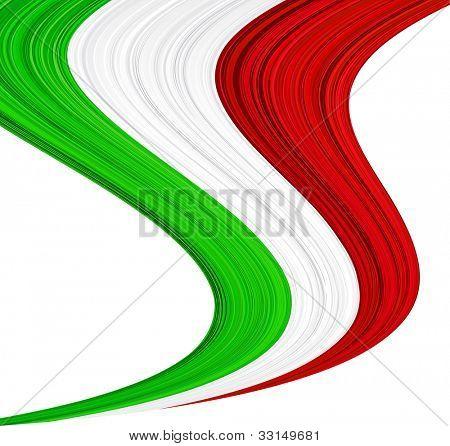 Vector illustration of national Italian flag.
