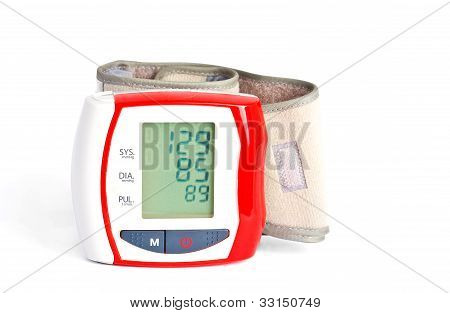 Blood Pressure Meter With Data