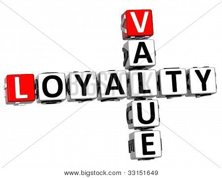3D Loyalty Value Crossword