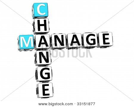 3D Change Manage Crossword