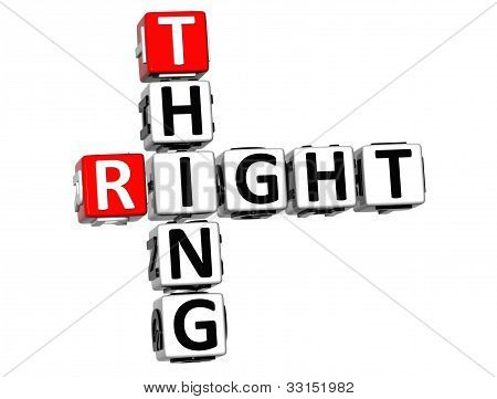 3D Right Thing Crossword