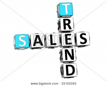 3D Sales Trend Crossword