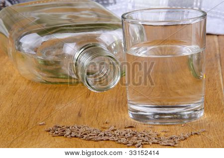 Caraway Schnapps In A Glass