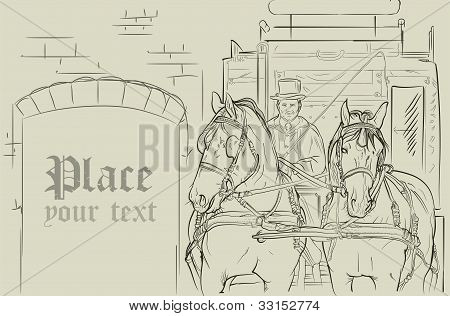 Vector Horse Carriage