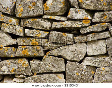 Dry stone wall (Istrian suhozid - Croatia)