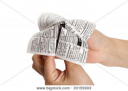 Newspaper Fortune Teller
