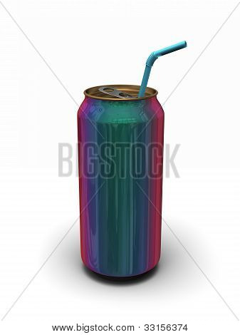 Iridescent Can Of Soda