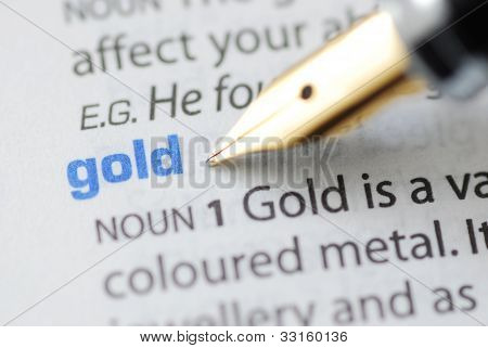 Gold - Dictionary Series