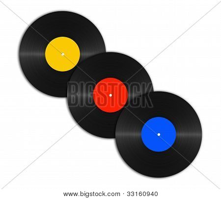 Abstract Vinyl Discs