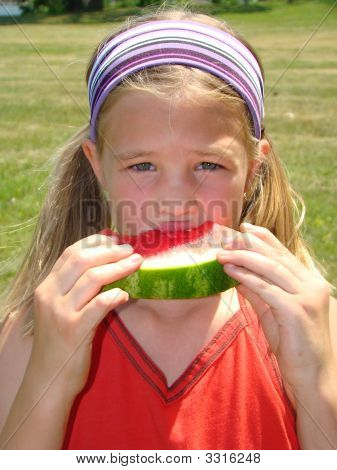 Watermelon Girl Close Up
