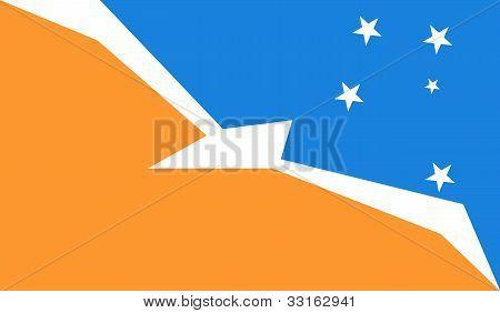 Bandera de la provincia de tierra del Fuego (Argentina)