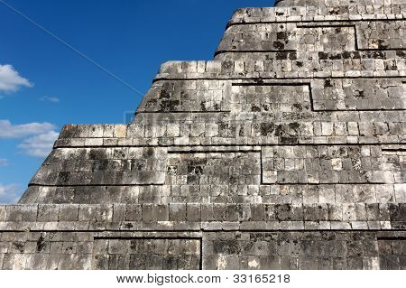 Detail of Kukulkan Pyramid Steps
