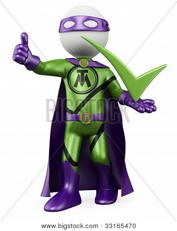 3D Superhero - Tick Man
