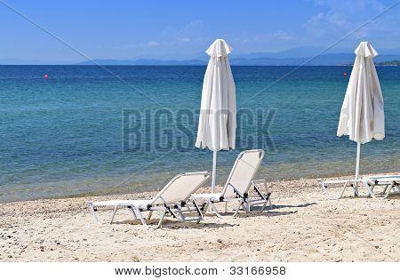 Scenic beach in Greece