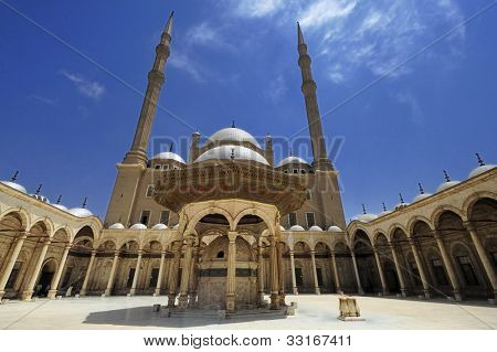 The Mosque of Muhammad Ali Pasha or Alabaster Mosque is a Ottoman mosque situated in the Saladin Citadel of Cairo in Egypt and commissioned by Muhammad Ali Pasha between 1830 and 1848.