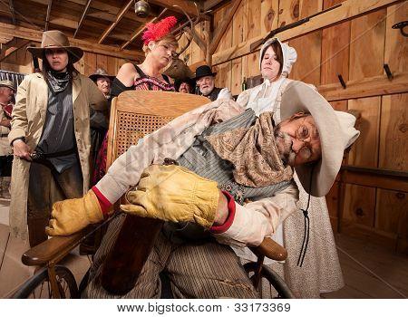 Drunk Cowboy In Wheelchair
