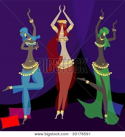 orientalischen Tänzerinnen