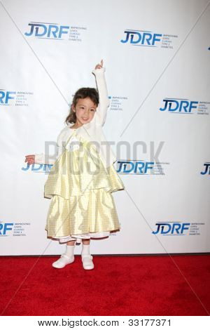 LOS ANGELES - MAY 19:  Aubrey Anderson-Emmons arrives at the JDRF's 9th Annual Gala at Century Plaza Hotel on May 19, 2012 in Century City, CA