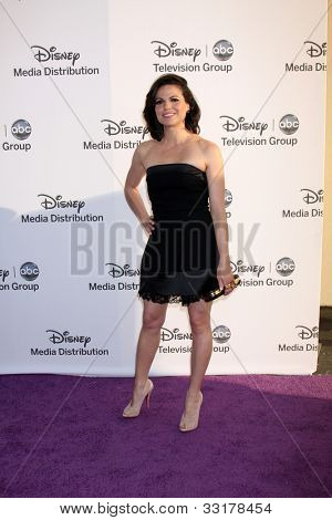 LOS ANGELES - MAY 20:  Lana Parrilla arrives at the ABC / Disney International Upfronts at Walt Disney Studios Lot on May 20, 2012 in Burbank, CA