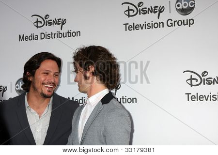 LOS ANGELES - MAY 20:  Nick Weschsler, Connor Paolo arrives at the ABC / Disney International Upfronts at Walt Disney Studios Lot on May 20, 2012 in Burbank, CA