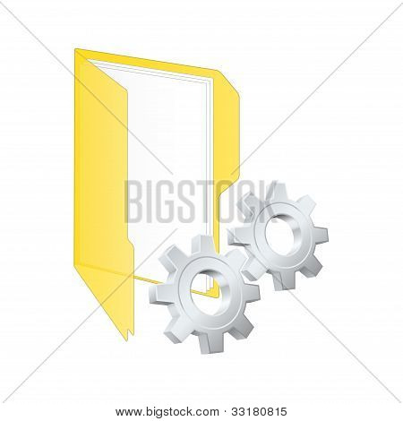 Einstellungen-Symbol. Vektor-illustration