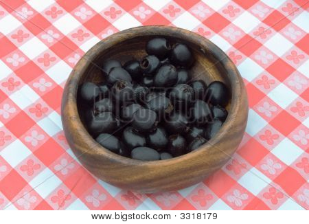 Preserved Black Olives