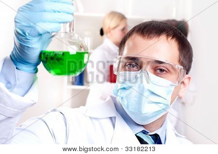 chemist working in the laboratory
