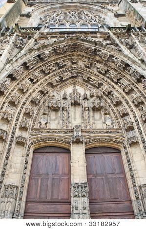 Door At Cathedral Saint Maurice