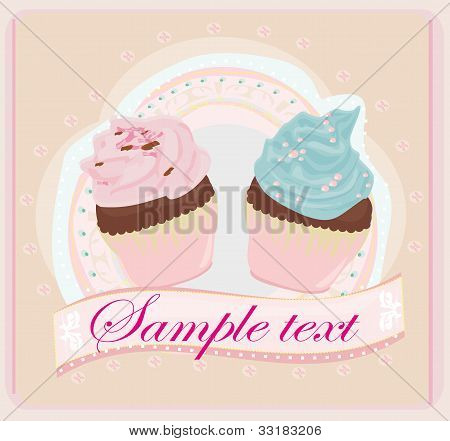 Lovely Pattern With cakes Design