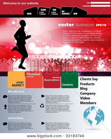 Web site layout. Vector