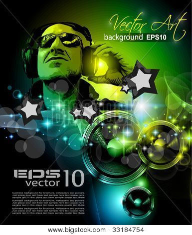 Alternative Discoteque Music Flyer for   Miami night clubs and music events.