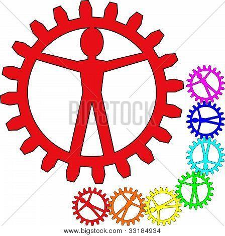 People like gears - company, work, individuality