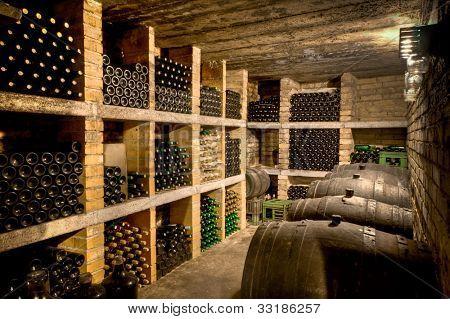 HDRI of a wine cave