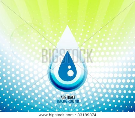 Vector blue liquid abstract background