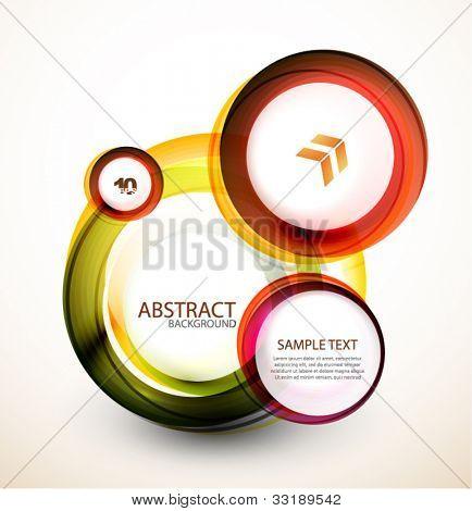 Banner web laranja abstrata feita de círculos