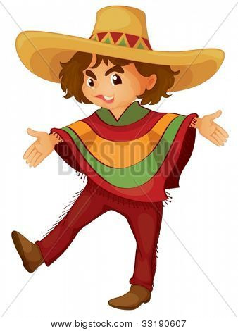 Illustration of a mexican boy