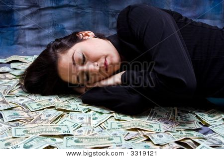 Woman Dreaming About Money