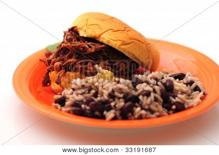 Barbecue Beef Sandwich Dinner