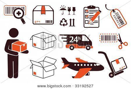 Entrega del correo, símbolos de transporte