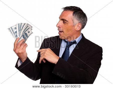 Ambitious Executive Looking Dollars