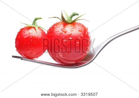 Tomatoes On Fork